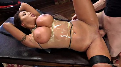 Latex, Boob, Nadia styles, Latex bondage