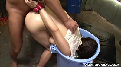 Creampie, Gangbang, Japanese bdsm, Water, Bondage gangbang, Asian face
