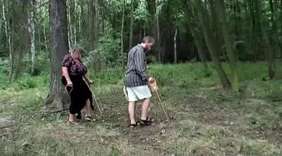 Granny, Old granny, Forest, Mature outdoor