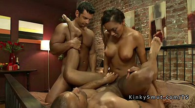 Threesome shemale, Shemale threesome, Shemale big, Busty anal