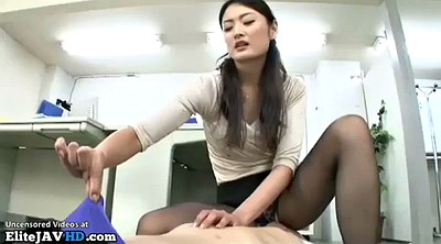 Nylon, Japanese massage, Japanese pantyhose, Nylon feet, Japanese foot, Japanese handjob