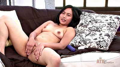 Hairy solo, Asian dildo, Woman, Asian hairy