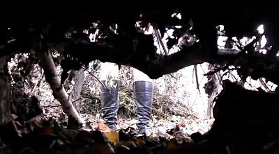 Voyeur, Hidden, Pissing, Boots, Outdoor piss