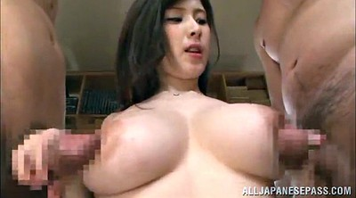 Double, Threesome licking, Asian big tits, Sweaty, Asian tit