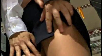 Train, Watching wife, Groping, Groped, Throat fuck, Grope