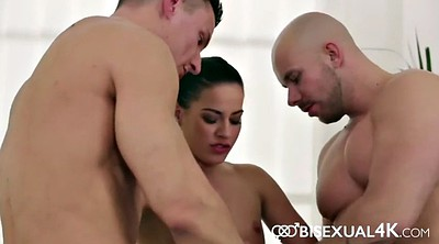 Bisexual, Anal threesome, Bisexual threesome, From behind