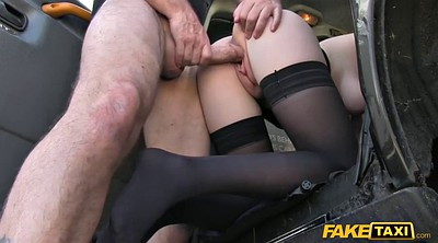 Taxi, Big tits stocking