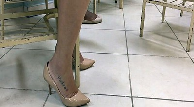 Candid, Tatoo, Milf feet, Milf foot, Candid feet