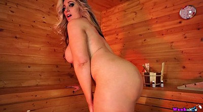 Mom, Sauna, Mom masturbating, Mom fuck