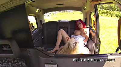 Huge tits, Taxi, Changing