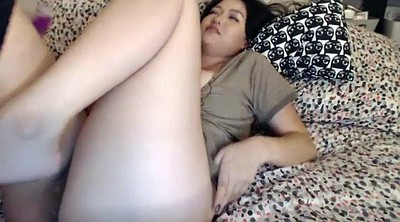 Anal solo, Anal orgasm, Big tits masturbation, Asian pussy solo