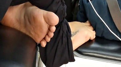 Candid, Sole, Airport, Tatoo, Sole feet, Brazilian feet