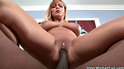 Mature moms, Black cock
