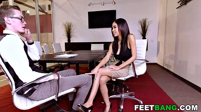 Footjob, Shay, Office foot, Office footjob, Evans, Teen footjob
