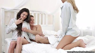 Young anal, Young anal threesome