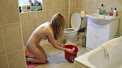 Young girls, Nude, Cleaning, Solo girl