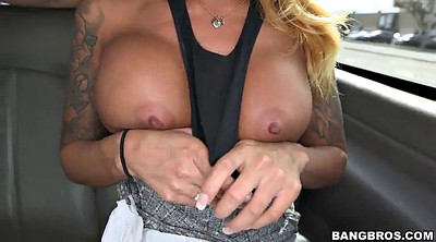 Bus, Tattooing, Cum in pussy