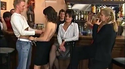 Bar, Wife watching, Wife public, Wife handjob, Public handjob, Mature group