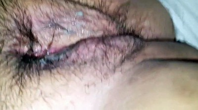 Big clit, Red, Hairy pussy, Clit