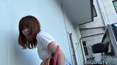 Japanese teen, Japanese outdoor, Japanese public, Japanese pee, Asian pee, Outdoor pee