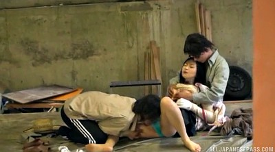 Japanese double penetration, Japanese woman