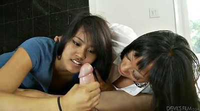 Deep throat, Big milf, Asian cum