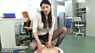 Nylon, Pantyhose fetish, Japanese pantyhose, Japanese handjob, Japanese massage, Japanese foot