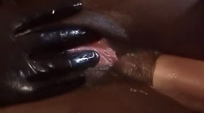 Leather, Interracial anal, Ebony anal