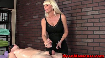 Blindfolded, Wank, Blindfold, Mature massage, Handjob femdom