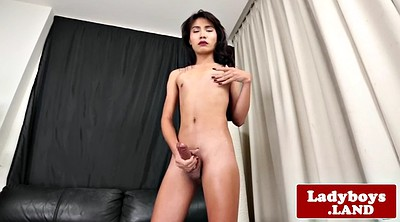 Ladyboy, Asian masturbate