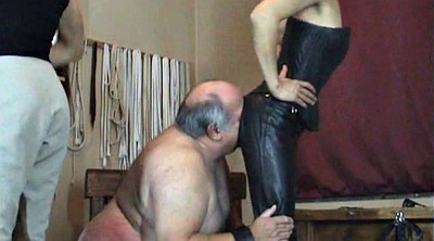 Old, Fat, Old man, Fat granny, Two man, Humiliation