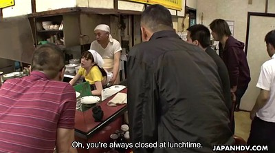 Asian gangbang, Creampie gangbang, Japanese bukkake, Hairy creampie, Restaurant, Asian group