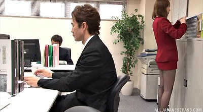 Yui, World, Asian pantyhose, Asian office