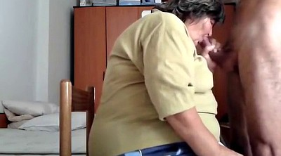 Blow job, Mature granny