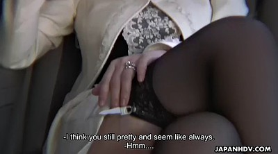 Upskirt, Japanese small cock, Japanese outdoor, Driver