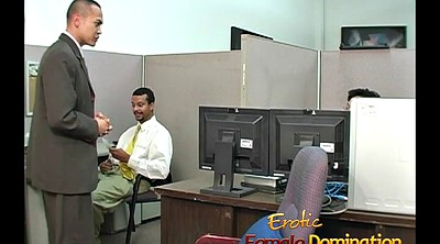 Officer, Humiliation, Humiliate, Office femdom, Blonde milf