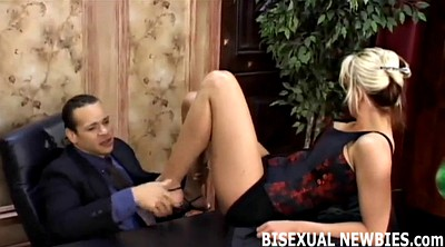 Bisexual, Femdom blowjob, Lovely, Bisexual threesome