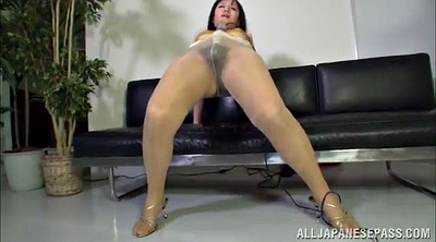 Pantyhose, Masturbation pantyhose, Asian masturbation, Big ass solo