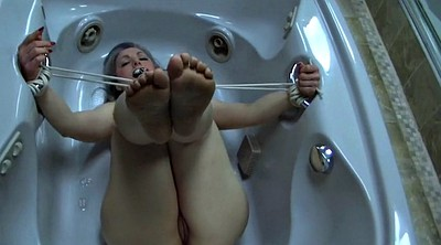 Mature foot, Mature feet, Tease, Bound