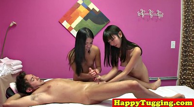 Caught, Asian massage, Asian threesome, Asian caught
