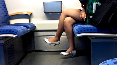 Nylon, Peep, Heels, Train, Peeping, Nylon foot