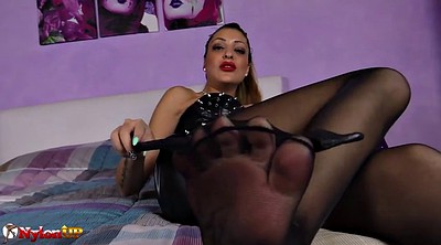 Footjob, Stocking, Mistress t, Stockings footjob, Stocking footjob