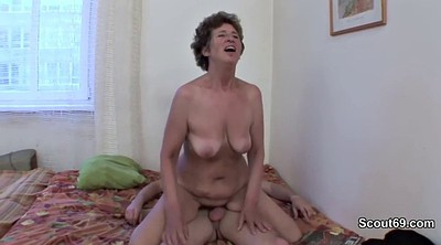 Trapped, Granny ass, Mother anal, German granny