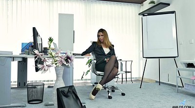 Pantyhose masturbation, Office pantyhose