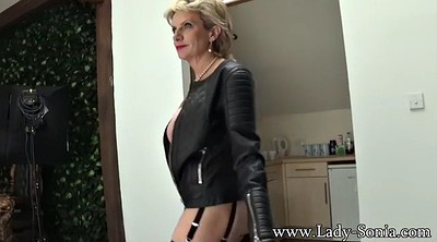 Black solo, Leather, Stockings milf