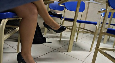 Candid, High heels, Legs, Colleges