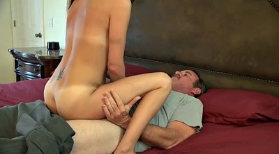 Stepdad, Take a shower, Petite young, Blond young