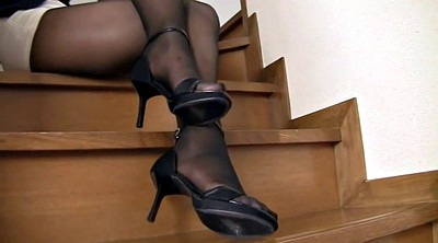 Japanese pantyhose, Japanese black, Japanese and black