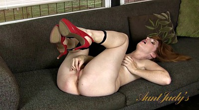 High heels, Skinny milf, High heels solo