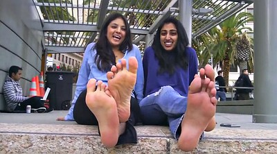 Indian, Foot show, Indian girl, Footing
